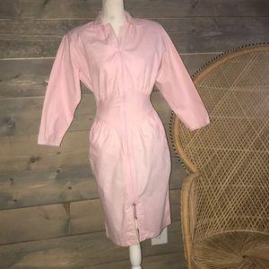 80's pink Nok Nok dress